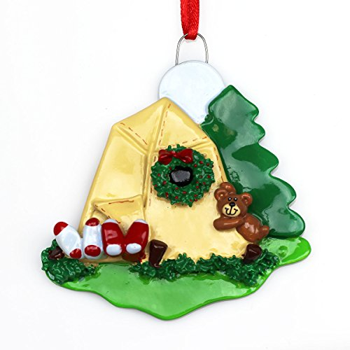 Tent Camping made our list of the most unique camping Christmas tree ornaments to decorate your RV trailer Christmas tree with whimsical camping themed Christmas ornaments!