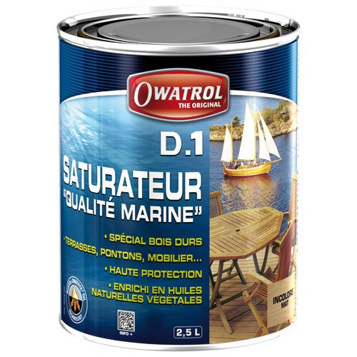 Deks Olje D1 (2.5 Liter) - Matte Finish -  Owatrol, 832