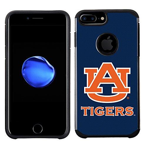 Prime Brands Group Textured Team Color Cell Phone Case for Apple iPhone 8 Plus/7 Plus/6S Plus/6 Plus - NCAA Licensed Auburn University Tigers