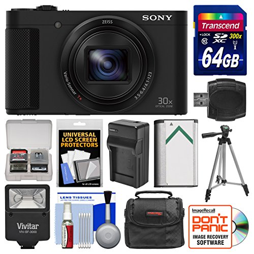 sony-cyber-shot-dsc-hx80-wi-fi-digital-camera-with-64gb-card-case-flash-battery-charger-tripod-kit
