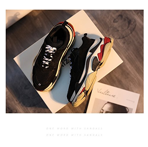 leather running GUNAINDMX shoes nbsp;Genuine nbsp; shoes black couple sports HwzqEXn6Az