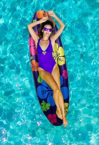 Inflatable Pool Floats for Adults and Kids – Swimming Pool Lounger as Fun Giant Floaties for Adults Great Relax In The Summer Sun Summer Gift (Surfboard)