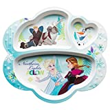 Zak Designs FZNC-0010 Disney Frozen Kids Divided Plates, Girl
