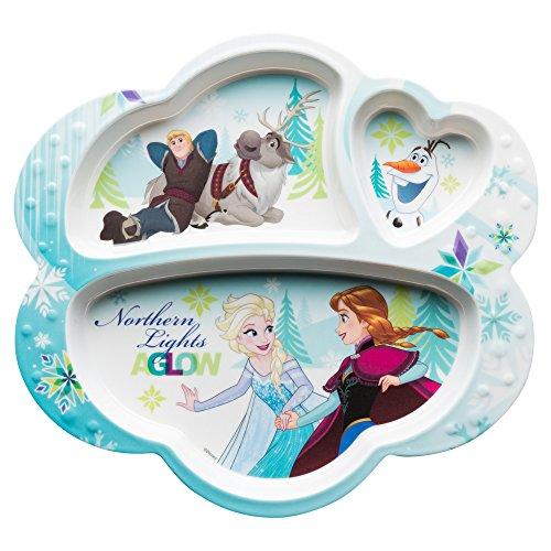 Zak Designs FZNC-0010 Disney Frozen Kids Divided Plates, Girl