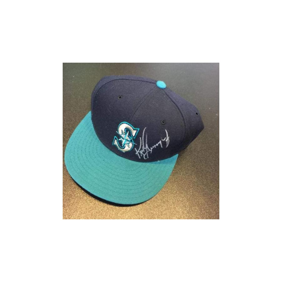Ken Griffey Jr. Signed 1990's Seattle Mariners New Era Game Model Hat PSA/DNA Certified Autographed Hats