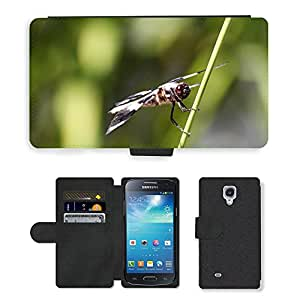 Super Stella Cell Phone Card Slot PU Leather Wallet Case // M00104740 Dragonfly Insect Wing Wildlife Bug // Samsung Galaxy S4 Mini i9190