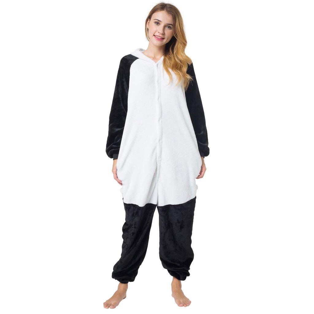 XL 1744 Katara- 10+ Modelos Disfraz Animal Pijama Una Pieza Adulto Color Panda Talla 175-185cm
