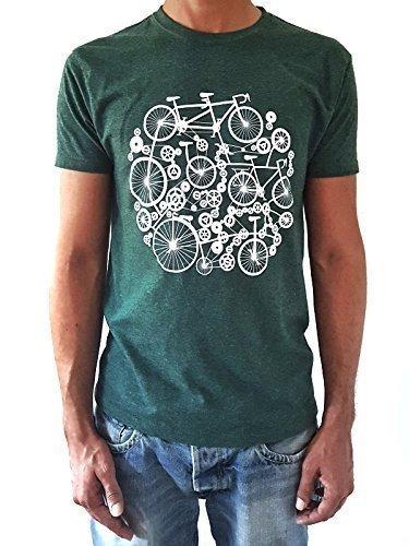 Camiseta de hombre Bicicletas - Color Verde botella Heather ...