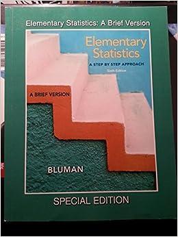 Elementary Statistics A Brief Version Elementary Statistics A Step