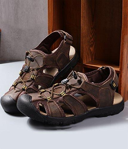 Cuir Pour Homme Sandales De Chaussures Motorun En Hommes qtFwaF8T