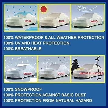 AutoPartsMarket Toyota Prius Hatchback 2010 2011 2012 2013 2014 2015 Ultimate Waterproof Custom-Fit Car Cover