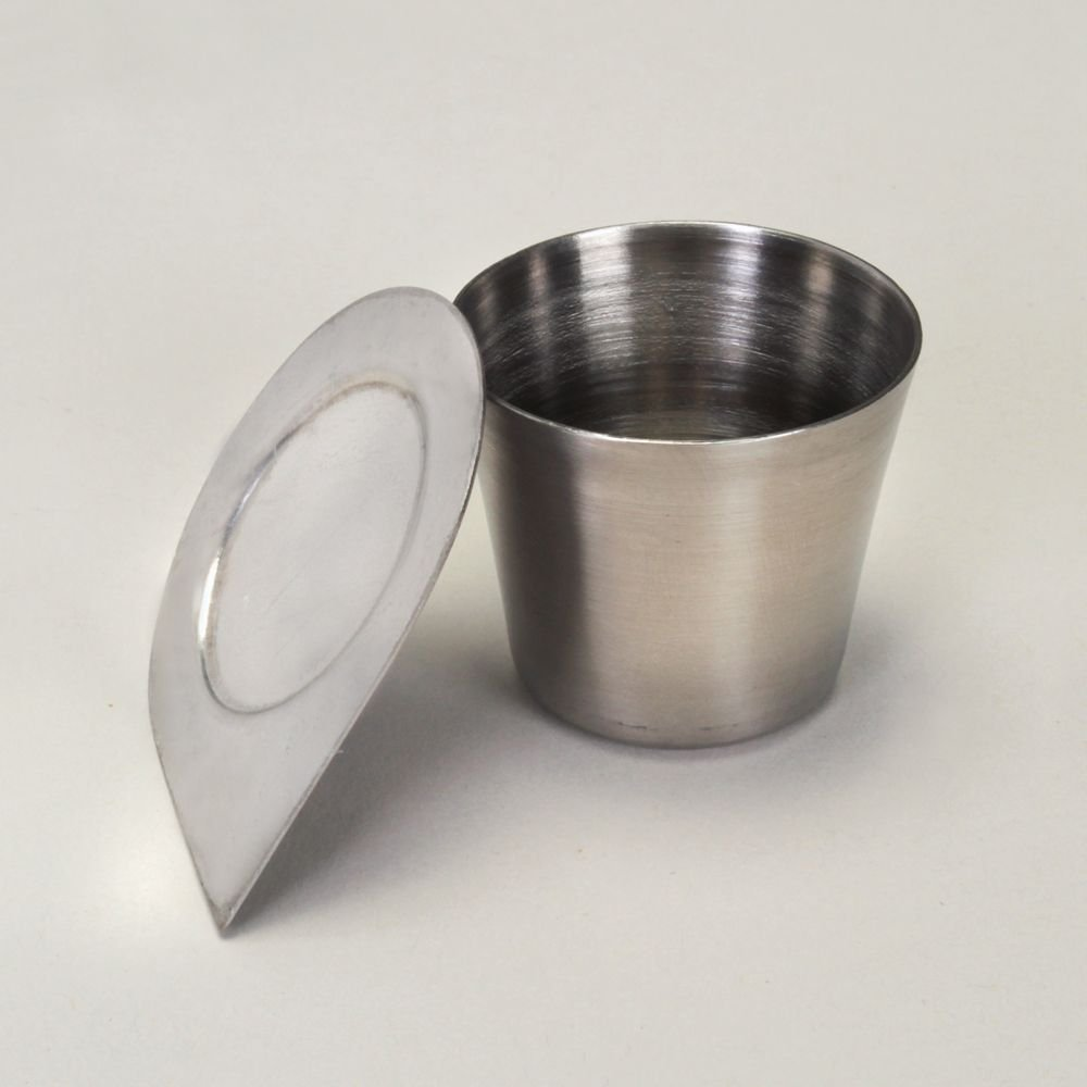 Steel Crucible, 30 mL, with Lid