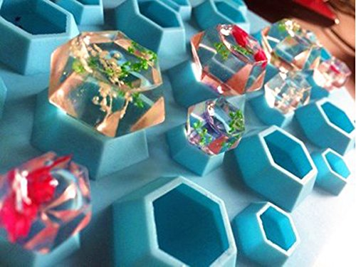Fentac 3D Diamonds Gem Cool Ice Cube Trays Silicone Chocolate Soap DIY Mold Party Ice Maker (7 Colors Are Available)