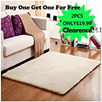 FADFAY Super Soft Solid Color Carpet/Floor Rug/Living room carpet/Area Rug(can be customized) (31.5 x 47.2)