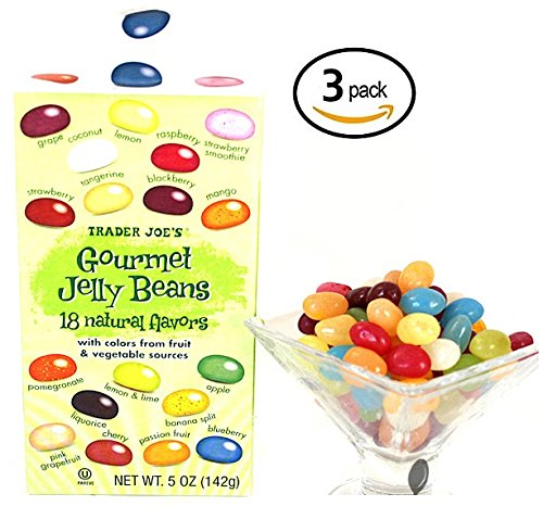 Trader Joe's Gourmet Jelly Beans 18 Natural Flavors With Col