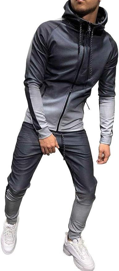 Winter Men/'s Sports Suit Athletic Set Jacket Sweatshirt /& Pant Jogging Tracksuit