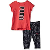 PUMA Girls' 2 Piece Tee & Capri Set