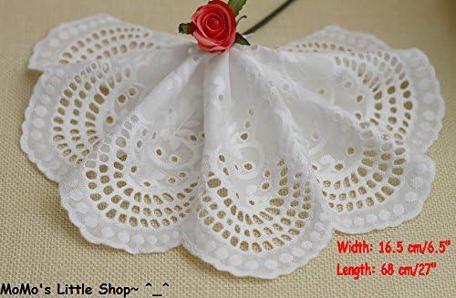 Diseño de Luca Johnson UK Vintage estilo // marfil de Floral bordado diseño rectangular crema 100% algodón de puntilla (16,5 cm X 68 cm) - borde de 2 piezas: Amazon.es: Hogar