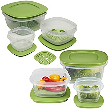 Vegetable Saver Containers Amazon rubbermaid 12pc set of produce saver plastic food rubbermaid 12pc set of produce saver plastic food storage containers with lids fresh vent for workwithnaturefo