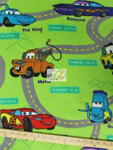 RADIATOR SPRINGS DISNEY CARS PRINT POLAR FLEECE FABRIC 60