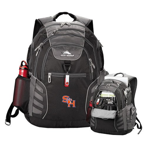 SHSU High Sierra Big Wig Black Compu Backpack 'SH Paw Official Logo' by CollegeFanGear