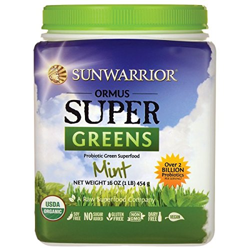 Sunwarrior - Ormus Supergreens, Powerful Vegan Greens with Trace Minerals, Organic, Gluten Free, Non-GMO, Mint, 90 Servings (16 oz) ()