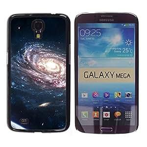 TopCaseStore / la caja del caucho duro de la cubierta de protección de la piel - Spiraling Galaxy Purple Planets Bright Light Universe - Samsung Galaxy Mega 6.3 I9200 SGH-i527