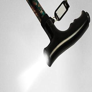 Zhen Lin Vieux Bâton Télescopique De Marche, Lumière De LED Se Déplaçant en Alliage D'aluminium Non-Glissant De Canne De Pied Simple