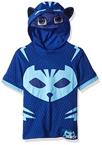 Pjmasks Toddler Boys Gekko And Catboy Hoodie  Blue Short Sleeve  3T