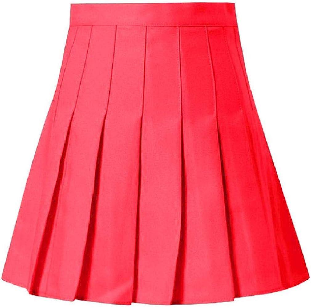 NOBRAND Falda plisada de satén rosa de verano para mujer, de ...