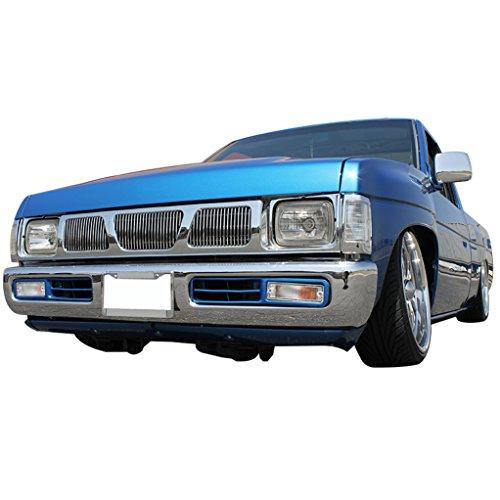EAG 93-97 Nissan Hardbody Billet Grille Overlay Aluminum Polished 4mm (Vertical Overlay Billet Grille)