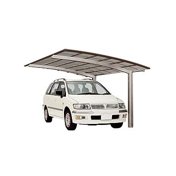 XIMAX Aluminium Design-Carport Portoforte Standard-Ausführung Typ 110  Edelstahl-Look
