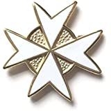 Masonic Knights Templar Gold Plated Enamel Lapel Pin Badge (K064)