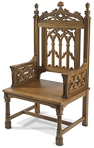 Canterbury Collection Maple Hardwood Celebrant Chair in Medium Oak Finish, 48 Inch by Canterbury Collection