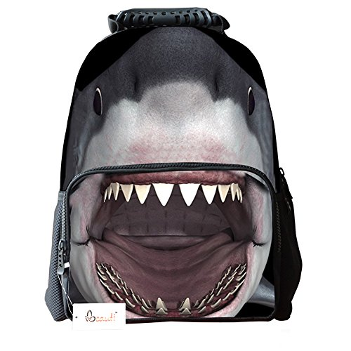 Ibeauti Unisex School Backpack, Large Capacity 3D Vivid Animal Face Print Backpack Back to School Bag Backpack (Back To School Stuff)