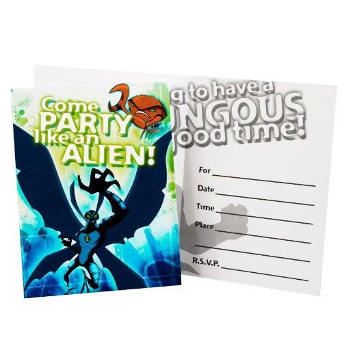 Ben 10: Alien Force Invitations (8 - Halloween Wording Invitation Birthday