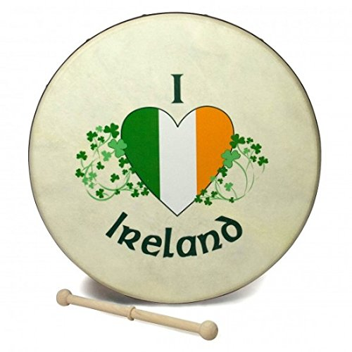 12″ Waltons I Love Ireland Tri Color Bodhran