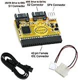 Bipra Bi-Directional IDE / SATA Converter (Connect IDE Drive to SATA Motherboard or SATA Drive to IDE Motherboard)