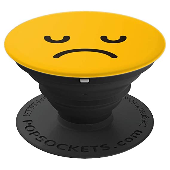 Amazon Emoji Sad Face Emoticon Yellow Popsockets Grip And