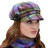 Mucros Weavers Ladies Plaid Newsboy Cap