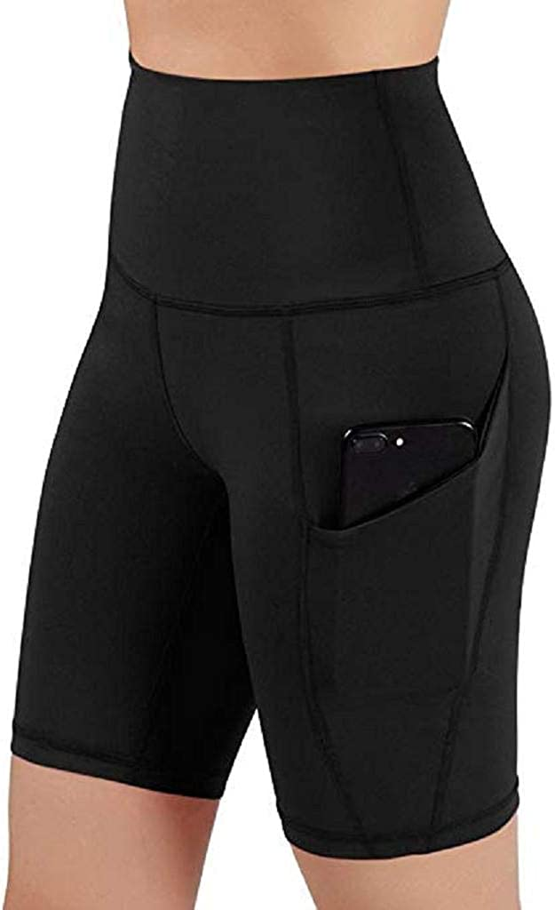 SHOBDW Pantalones de Moda Mujeres Deportes Pantalones Cortos Gym Workout Pretina Skinny Cintura Alta Yoga Pantalones Cortos