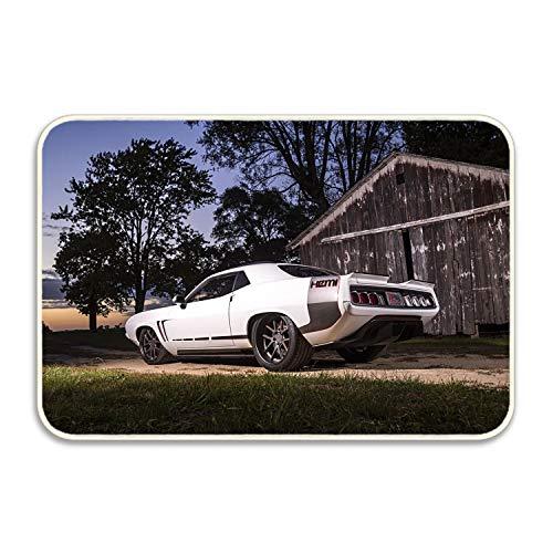- Niaocpwy Custom Doormats Abstract Plymouth Barracuda Hot Rod Muscle Car Mopar Entrance Mat Floor Rug Indoor/Outdoor/Front Door/Bathroom Mats Rubber Non Slip