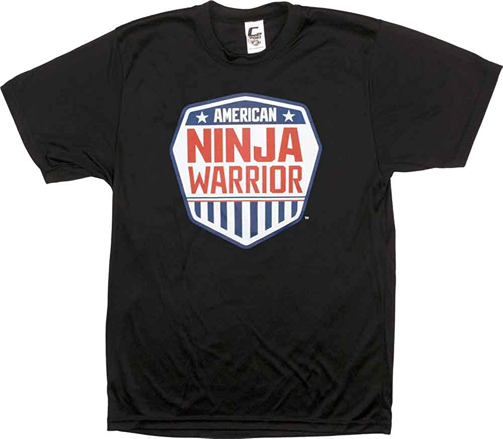 Perfect for Ninjas in Training 100/% Polyester Official American Ninja Warrior Kids Performance T-Shirt Lightweight