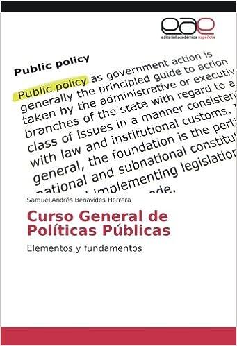 Curso General de Políticas Públicas: Elementos y fundamentos ...