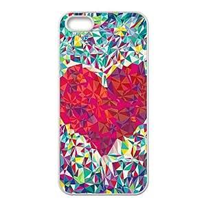 Iphone 5/5S Case, Kaleidoscope Love Heart Case for Iphone 5/5S White Leemarson if4112812
