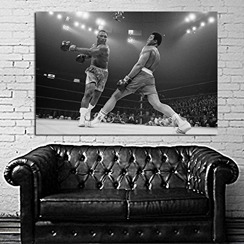 #34 Poster Canvas Muhammad Ali vs Joe Frazier Boxer 36x48 inch (92x122 cm) Canvas & Stretcher Bars - Boxer Joe Frazier