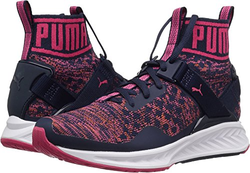 Puma Womens Ignite Evoknit Wns Cross Trainer Shoe  Peacoat Sparkling Co  8 5 M Us