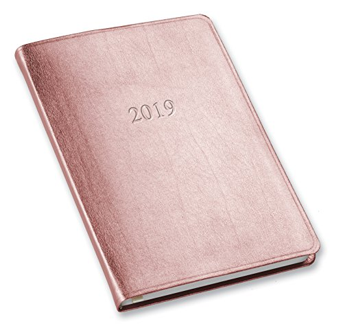 2019 Gallery Leather Desk Weekly Planner Metallic Rose Gold 8