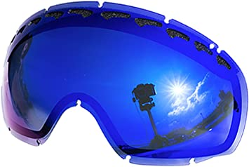 3fa1d7273a Replacement Lenses For Oakley Crowbar Snow Goggle Blue Mirror ...