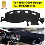 Big Ant Carpet Dashboard Cover for Dodge Ram 1500 2500 3500 1998-2001 Carpet Dash Mat Custom Fit Dashboard Protector Easy Installation Reduces Glare Eliminates Cracking